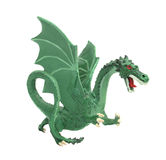 Model green dragon isolated. Royalty Free Stock Images