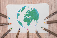 Model green poster design. Save the planet royalty free stock image