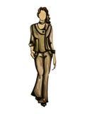 Model in grijs kostuum Stock Afbeelding