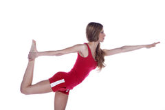 Model with gymnastic exercises Stock Photo