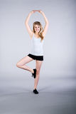 Model with gymnastic exercises Stock Image