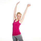 Model with gymnastic exercises Stock Photography