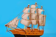 model högväxt seglingship Royaltyfri Foto