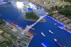 Model of haicang bridge Royalty Free Stock Image