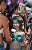Model Hailey Clauson taking interviews during the 34th Annual Mermaid Parade at Coney Island Royalty Free Stock Images
