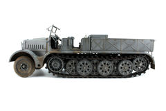 Model half-track view strictly Side. Model gray German half-track view strictly Side Royalty Free Stock Images