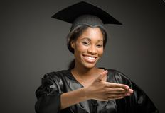 Model  with hand shake Royalty Free Stock Images