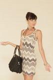 Model with a handbag Stock Photography