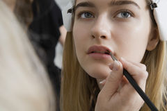 Model Having Makeup Applied Stock Images