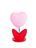 Model of a heart-shaped pink flowers memorial. Royalty Free Stock Images