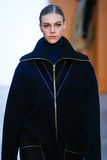 Model Hedvig Palm walk the runway at the Derek Lam Fashion Show during MBFW Fall 2015 Royalty Free Stock Photos