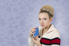 Model during her break Stock Images