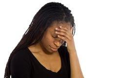 Model hiding face shame Stock Photos