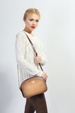 Model holding little purse Stock Photography