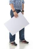 Model Holding White Board Stock Image