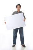 Model Holding White Board Stock Photography