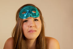 Model With Holiday Mask Stock Photos