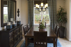 Model home dining area. Stock Photography