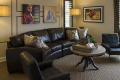 Model home entertainment room, California. Royalty Free Stock Images