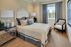 Model Home Master Bedroom Stock Images