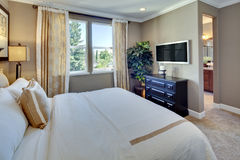 Model Home Master Bedroom Royalty Free Stock Photography