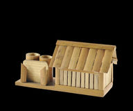 Model house. Made of bamboo Royalty Free Stock Images