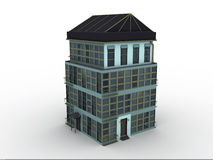 Model house. On white background, 3d rendered Royalty Free Stock Images
