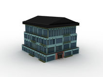 Model house. On white background, 3d rendered Royalty Free Stock Photos