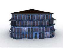 Model house. On white background, 3d rendered Stock Image