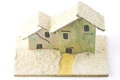 Model house. Little model of house on white background Stock Photography