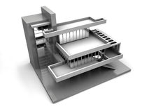 Model of house. 3d Very beautiful three-dimensional illustration, figure Royalty Free Stock Photos