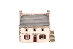 Model House. A miniature country house made of plaster cement Royalty Free Stock Photo