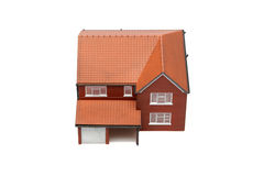 Model house from above isolated Royalty Free Stock Images