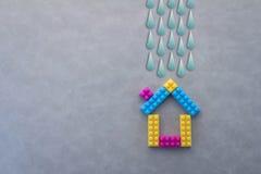 Model house against the Field Rainy Season Stock Image