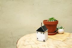 Model of house as symbol Royalty Free Stock Images