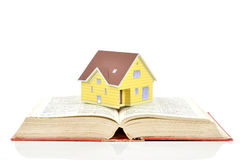 Model house and book Royalty Free Stock Images
