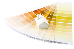 Model house on color palette Royalty Free Stock Photos