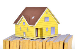 Model house and documents Royalty Free Stock Image