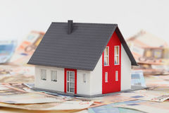 Model house. And euro banknotes Royalty Free Stock Photography
