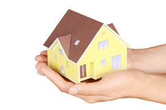 Model house in hand Stock Image