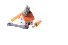 Model house in a home improvements and DIY Royalty Free Stock Photos