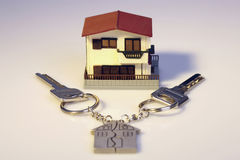 Model house with keys Royalty Free Stock Image