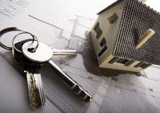 Model house keys Stock Photos