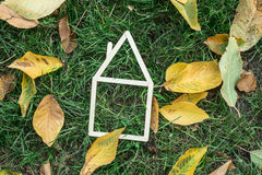 Model house made on green grass Royalty Free Stock Photography