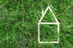 Model house made on green grass Stock Photography