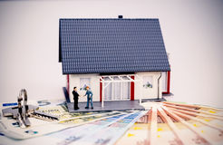 Model house and money for project Royalty Free Stock Images