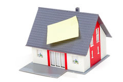 Model house with note Royalty Free Stock Image