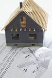 Model house with structural analysis Stock Photo