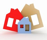 Model house symbol set Royalty Free Stock Image