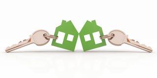 Free Model House Symbol Set With Keys Stock Photos - 37378973